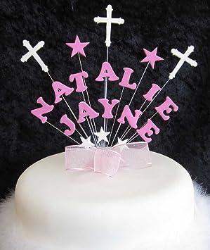 Torten Dekoration Cake Topper Zur Taufe Rosa