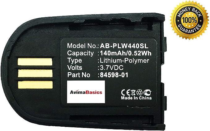 Amazon Com Avimabasics Savi Battery Replacement Rechargeable 140mah 3 7v Battery Compatible With Plantronics Savi Wh500 W440 W740 84598 01 82742 01 Bluetooth Wireless Headsets 84598 01 1 Pack Electronics