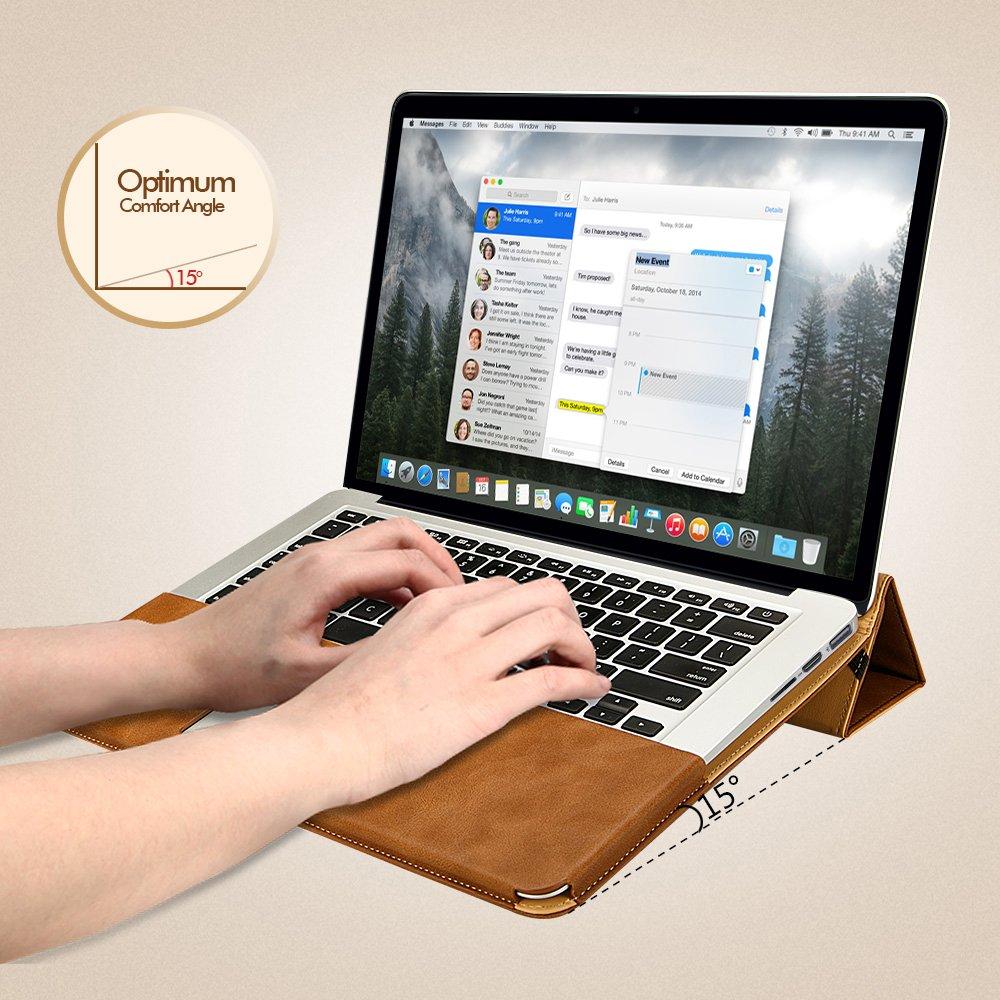 8b8c9dd5bce JisonCase Vintage - Funda de Cuero para MacBook Pro 13.3