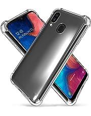 for Samsung Galaxy A20 Case, Shockproof Clear Gel Heavy Duty Tough Anti Knock Air Cushion Protective Cover (Samsung Galaxy A20)