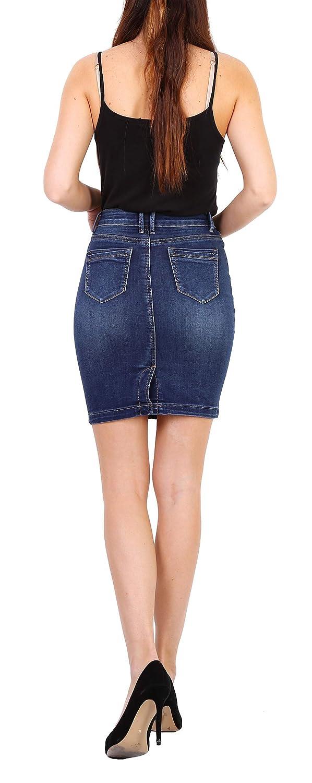 Onado Mujer Falda Vaquera Corta Stretch Falda Denim Jeans Talla 36 a 44
