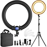 Ring Light,Upgraded Version 19inch with LCD Display Adjustable Color Temperature 3000K-5800K with Stand, YouTube Makeup Dimma