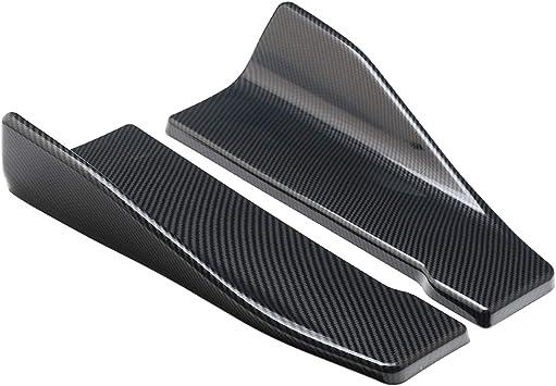 EBTOOLS 35cm Carbon Fiber Side Skirts Automobile Universal Side Skirt//Rear Bumper Lip Splitter Winglet Aprons