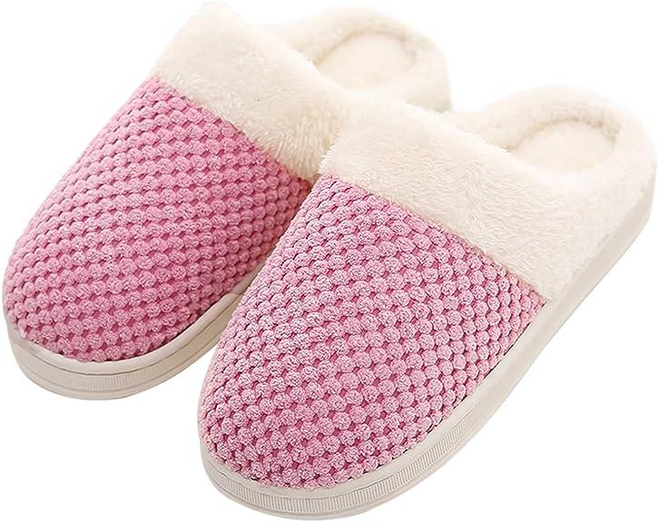 Hawiton Zapatillas de casa para Mujer, Cómodo Abiertas Zapatos de Lino de no Tejido, Antideslizantes Pantuflas de Suela de Goma, Slipper Mujer Ligero