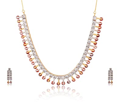 232d0a190d Buy Jewels Emporium American Diamond CZ Gold Plated Red Ruby Designer  Jewellery Set for Girls/Women Online at Low Prices in India | Amazon  Jewellery Store ...
