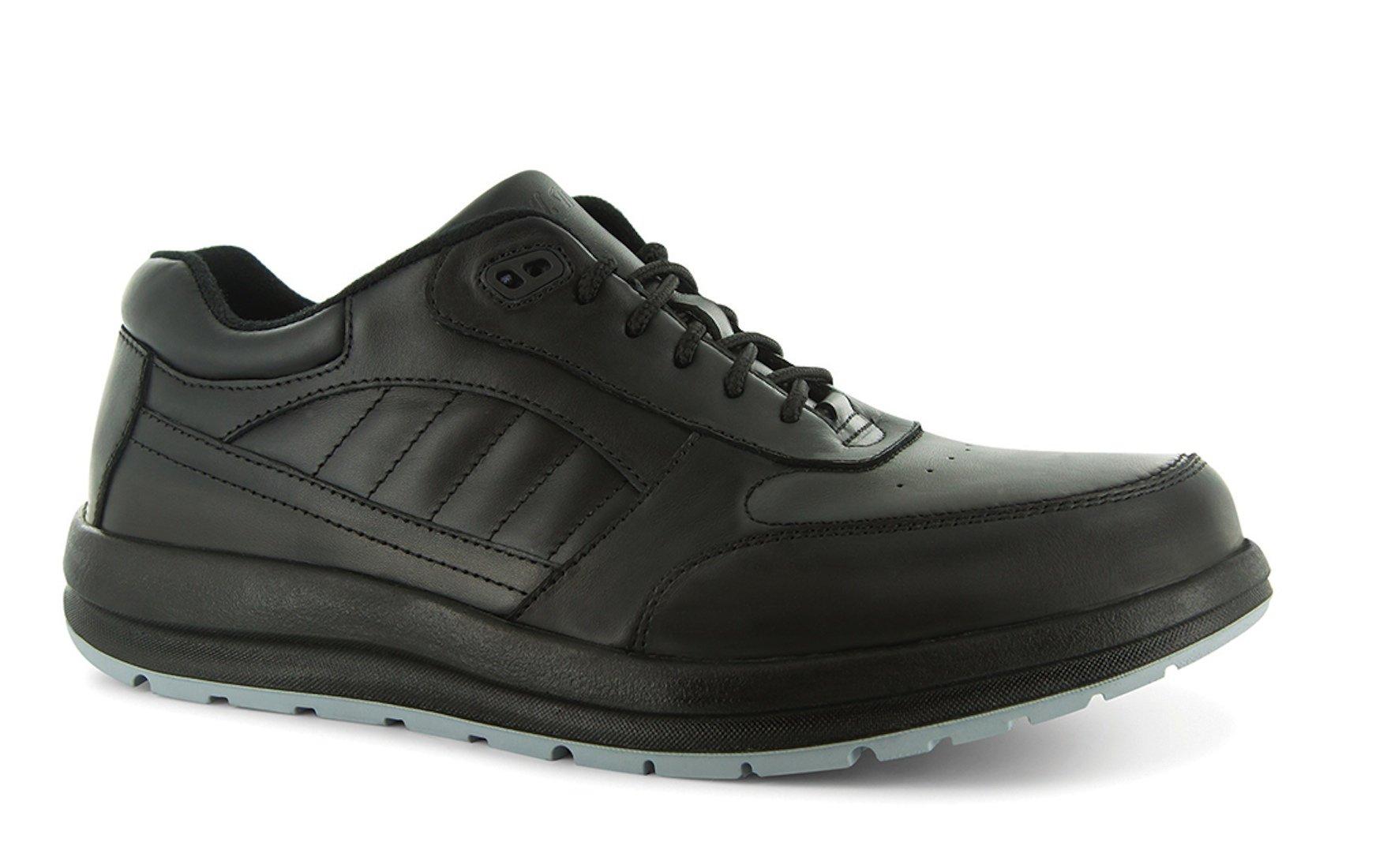 P W Minor Performance Walker Men's Therapeutic Casual Extra Depth Shoe: Black 7.5 Medium (D) Lace