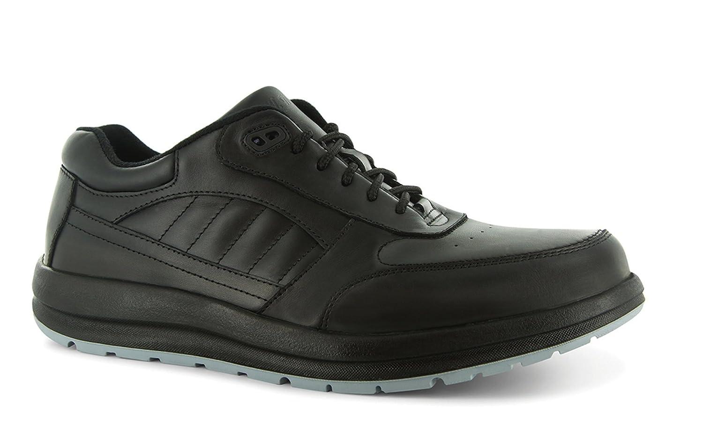 P W Minor Performance Walker Men's Therapeutic Casual Extra Depth Shoe Leather Lace-up 10.5 2E US Men Black
