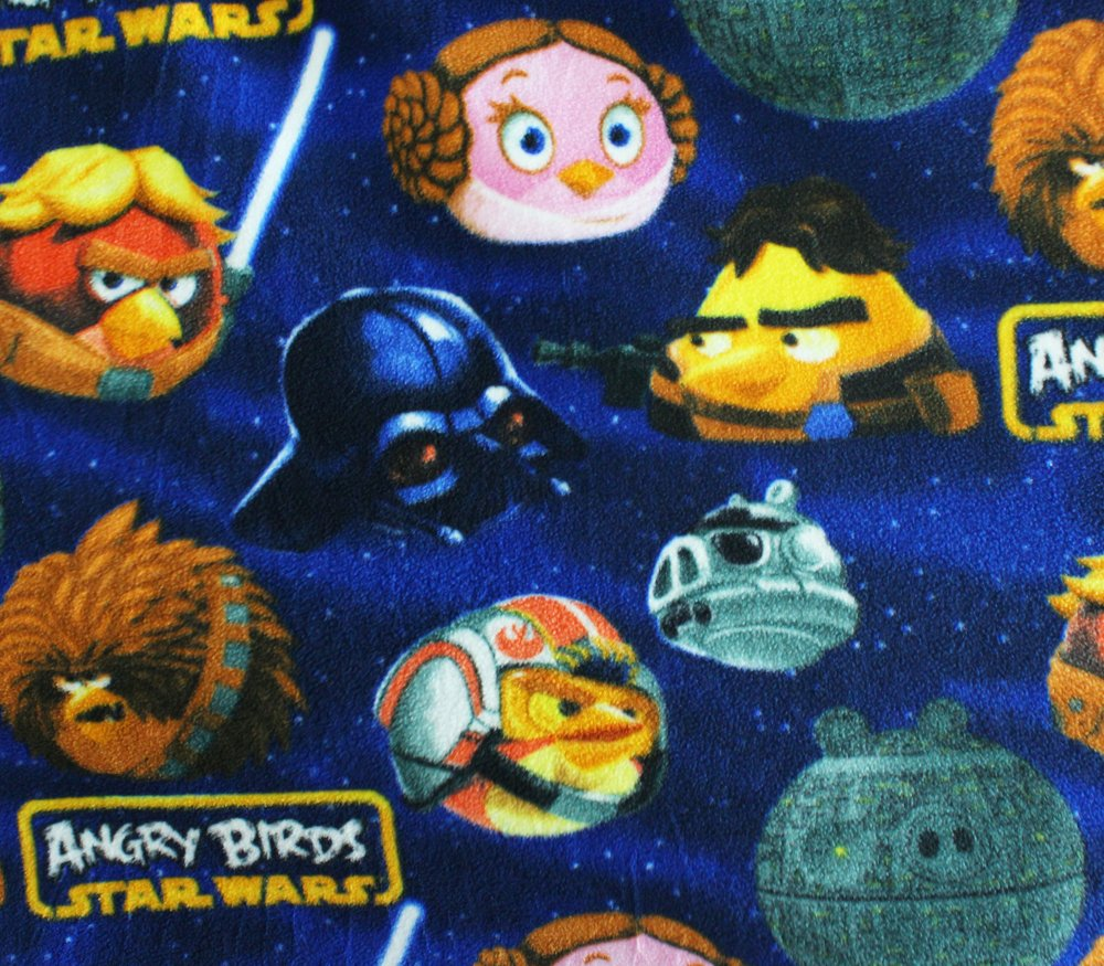 Polar Fleece Fabric Anti Pill Prints * LARGE ANGRY BIRDS STARWARS * / 60 Wide / Sold by the Yard S-543 by FABRIC EMPIRE   B016E1O504