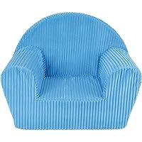 FUN HOUSE Fauteuil Club Bleu Enfant, Housse Polyester, Mousse 100% POLYETHER, 52x33x42 cm