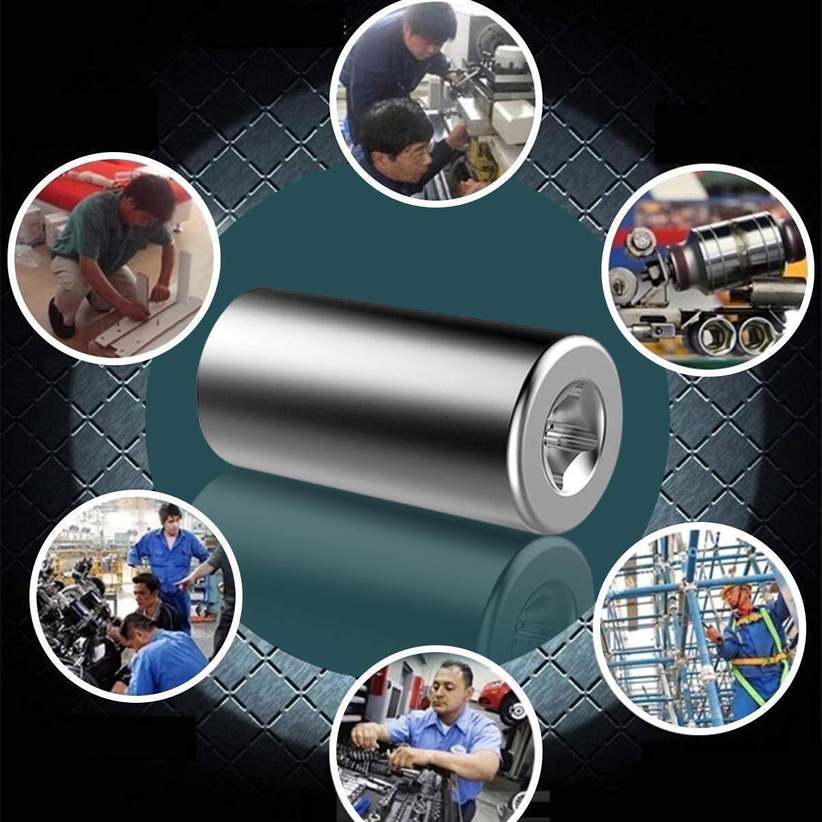 Universal Llave de Vaso 4Pcs 7 a 19 mm Peque/ño Multifuncional con Adaptador Adaptador Hexagonal Herramientas de Reparaci/ón con Adaptador para Taladro El/éctrico