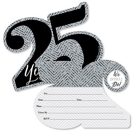 Amazon Com We Still Do 25th Wedding Anniversary Shaped Fill In