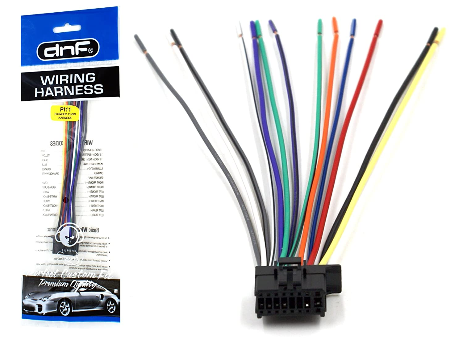 amazon com dnf pioneer wiring harness deh 1300mp deh 3300ub deh rh amazon com