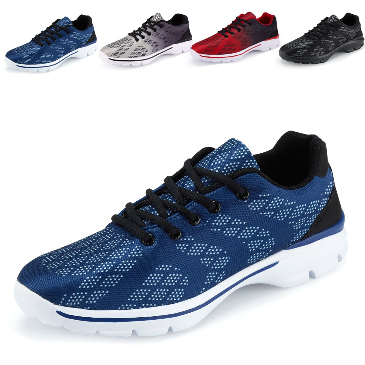 CaitinMen's Lightweight Breathable Running Tennis Sneakers Casual Walking Shoes, 1#blue, 7 M US
