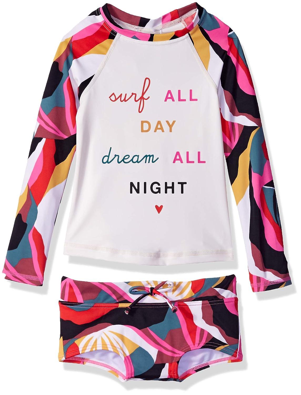Billabong Big Girls Dream Time Long Sleeve Rashgaurd Set Y203SBDR