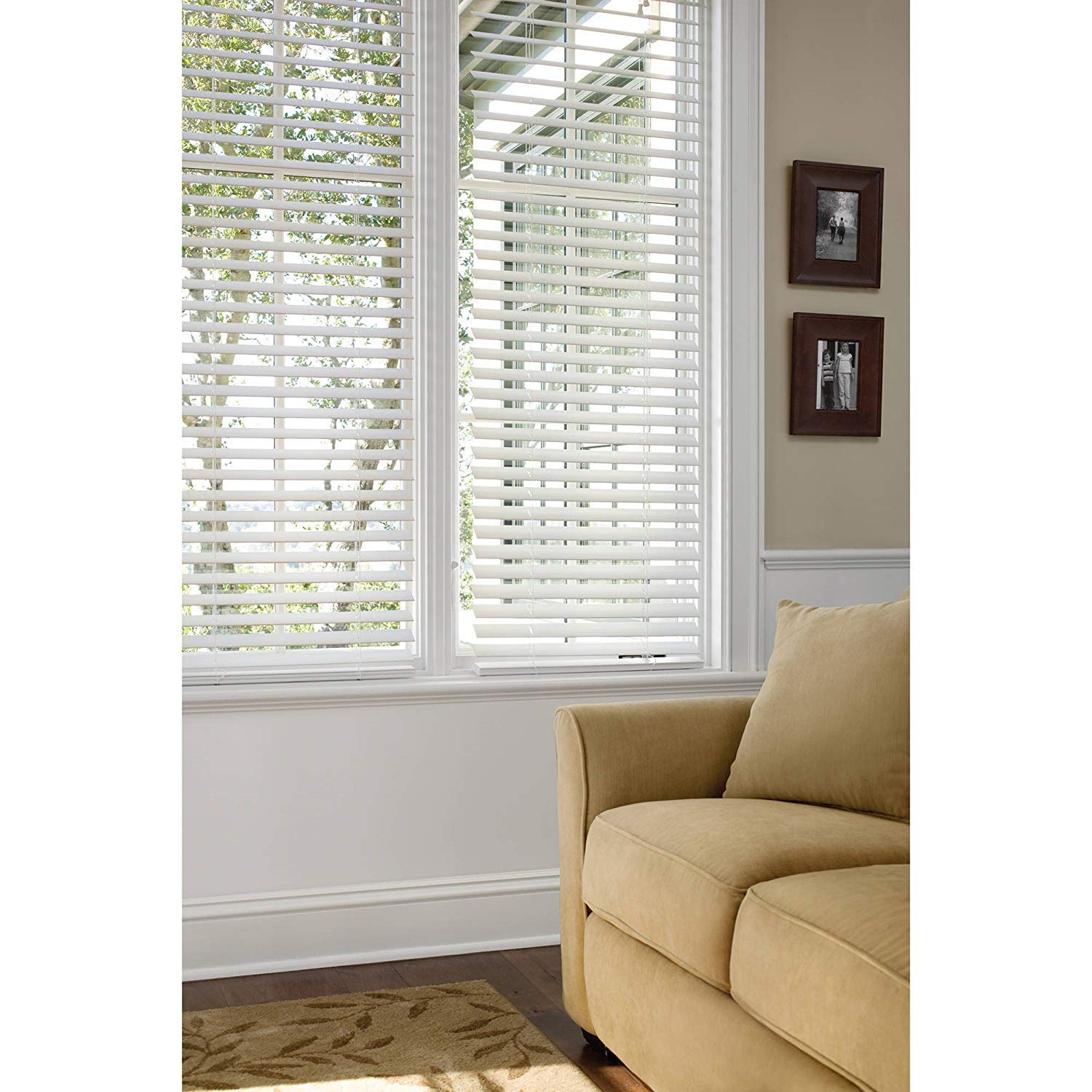 Better Homes and Gardens 2'' Faux Wood Blinds, White, (31 X 64)