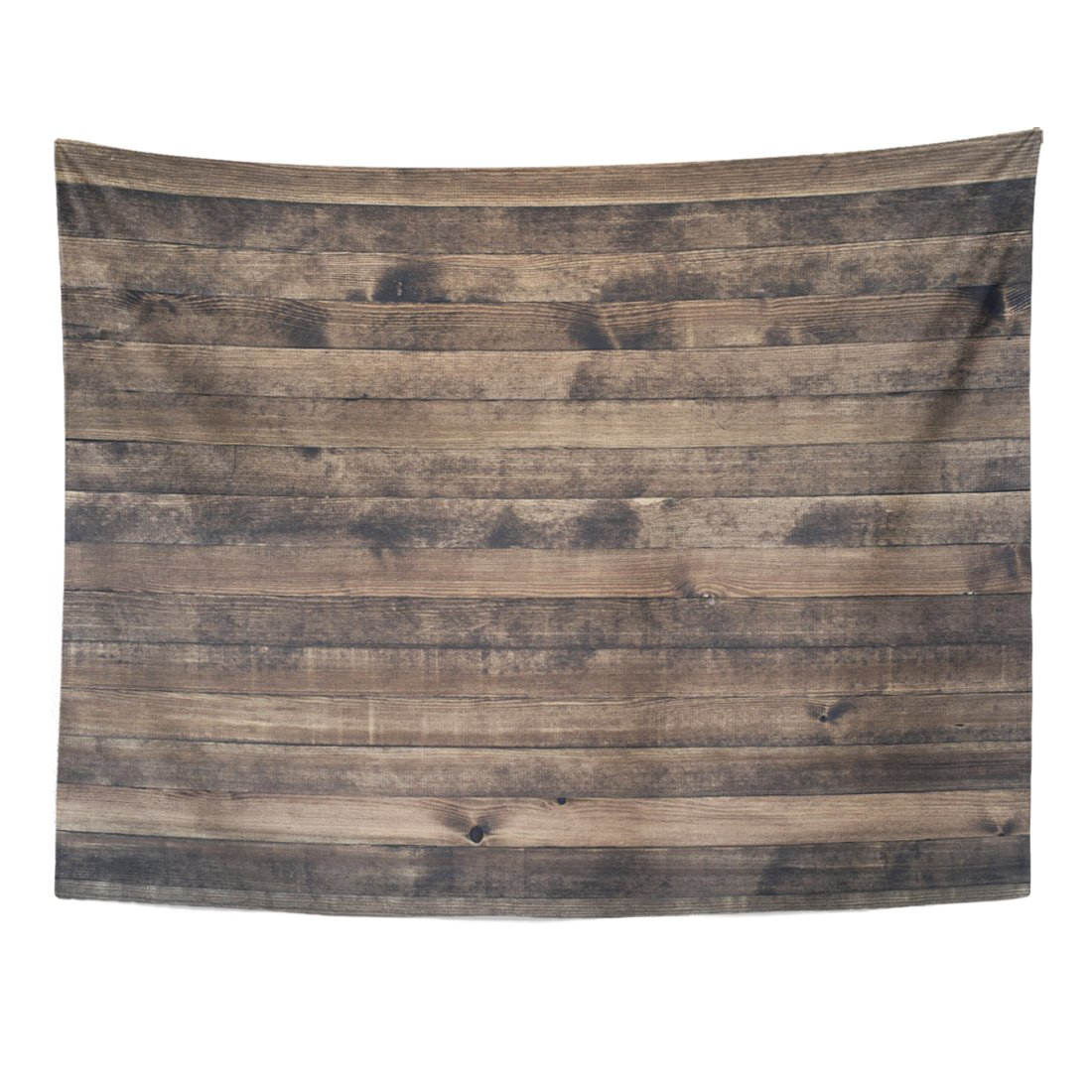 TOMPOP Tapestry Brown Wall of Old Wooden Plank Boards Material Gray Home Decor Wall Hanging for Living Room Bedroom Dorm 60x80 Inches