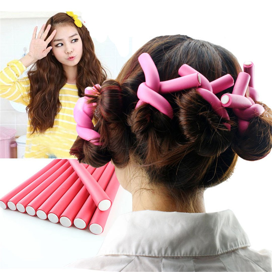 42Pcs/Set 7 Styles Hair Curler Rollers Spiral Foam Hair Curling Rods Drop Shipping by HAHUHERT (Image #2)