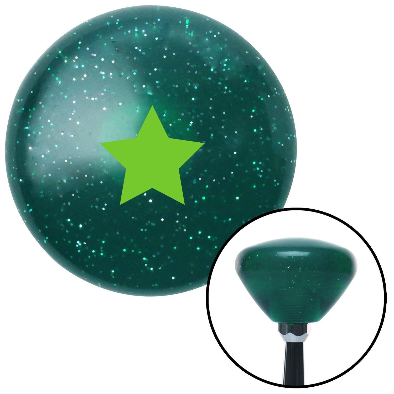Green Star Green Retro Metal Flake with M16 x 1.5 Insert American Shifter 291738 Shift Knob