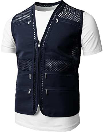 f2414513 H2H Mens Active Work Utility Hunting Travels Sports Mesh Vest with Pockets