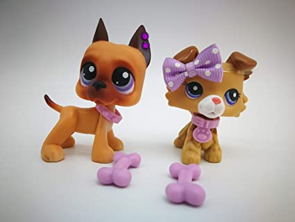 Amazoncom Toy Rare Lps Great Dane 244 Lps Collie 2452 Brown Dog