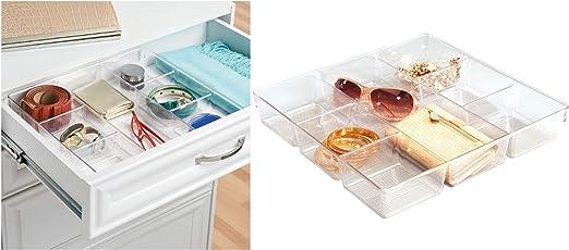 Clear InterDesign Linus Dresser and Vanity Drawer Organizer 13-inch by 5-inch by 2.25-inch