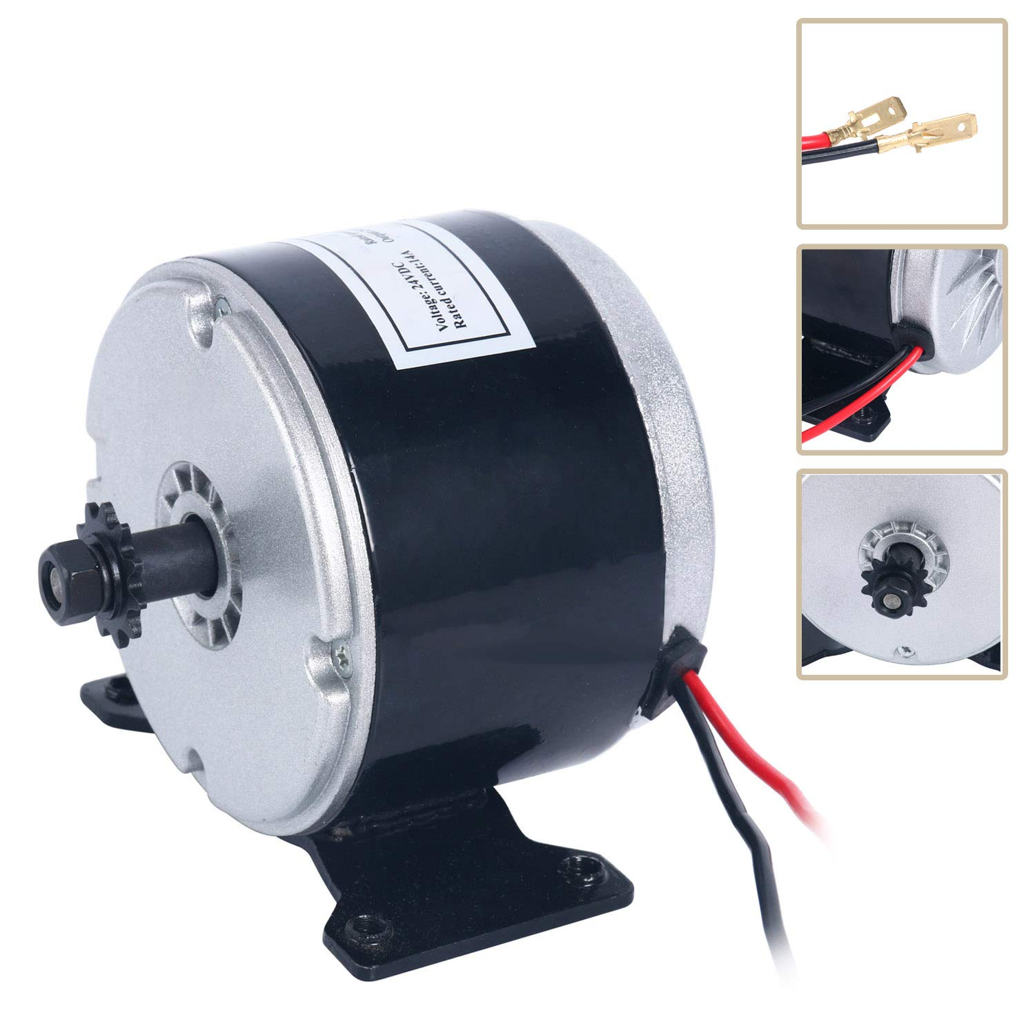 YaeTek 24V Electric Motor Brushed 250W 2650RPM Chain For E Scooter Drive Speed Control by YAETEK