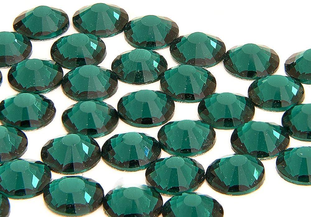 Swarovski Alternative EIMASS® ELEMENTS Grade A Hotfix Glass Crystals Flat Back Rhinestones Gems, Pack of 1440 Crystals (ss10 (3mm), Emerald Green)