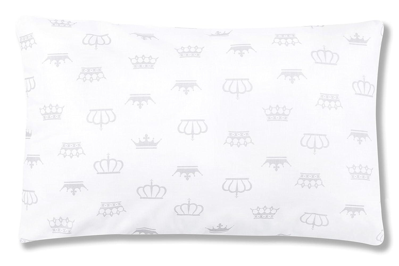 Amilian® Dekokissen Kissenbezug Kissen 40cm x 60cm Krone Weiß Amilian®