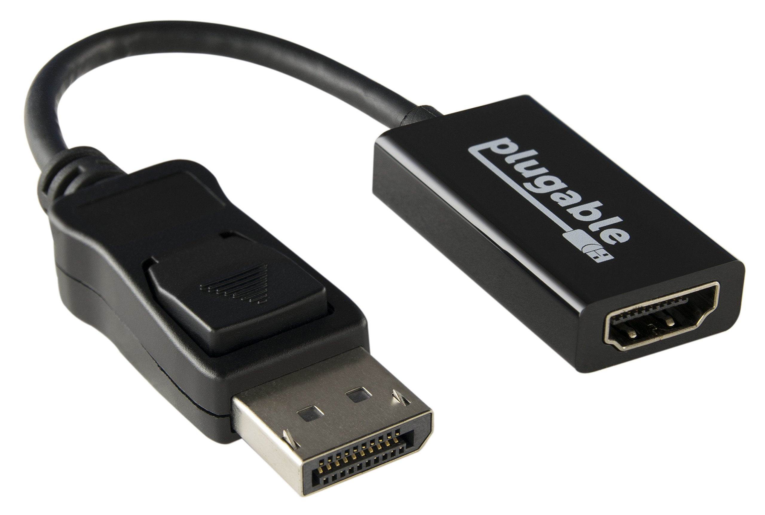 Plugable Active DisplayPort to HDMI 2.0 Adapter (Supports displays up to 4K / UHD / 3840x2160@60Hz)