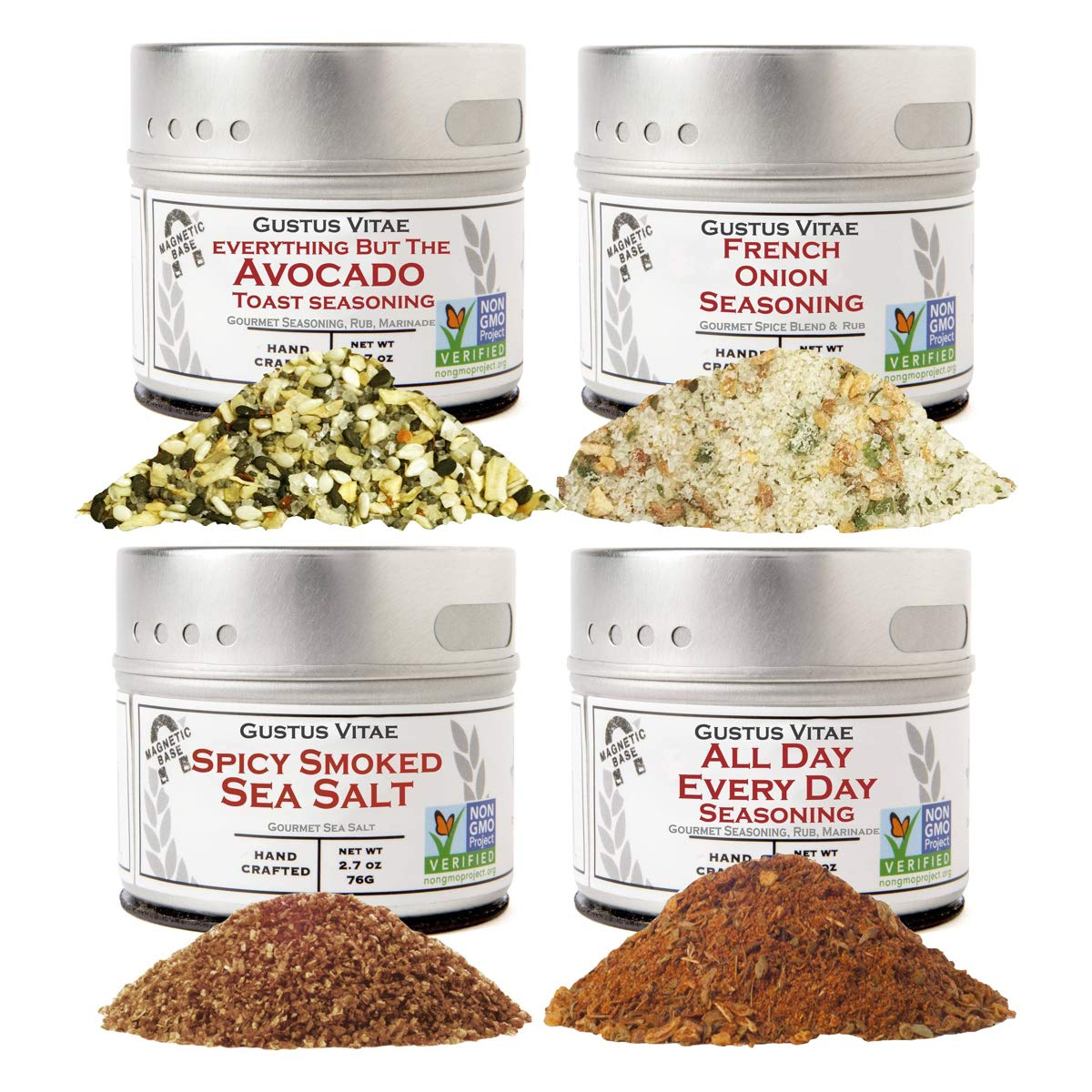 Home Chef Flavor Kit   Gourmet Spice Blends   Gustus Vitae   All Natural   Non GMO   Small Batch   Crafted With Care