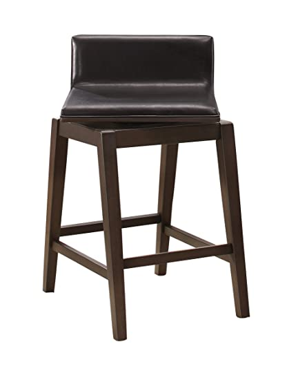 Amazoncom Homelegance Rochelle Swivel Counter Height Chair With