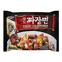 Paldo Fun & Yum Jjajangmen Instant Noodles, Pack of 8, Brothless Chajang Ramen with Savory & Sweet Black Bean Sauce, Best Oriental Style Korean Ramyun, Soupless K-Food, 팔도 짜장면 203g x 8