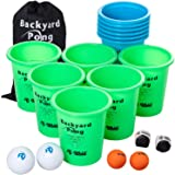 Jumbo PREMIUM Beer Pong Set for Outdoors by Rally and Roar – Dual Colored Cups, 6 balls - Fun Drinking Games for Adults…