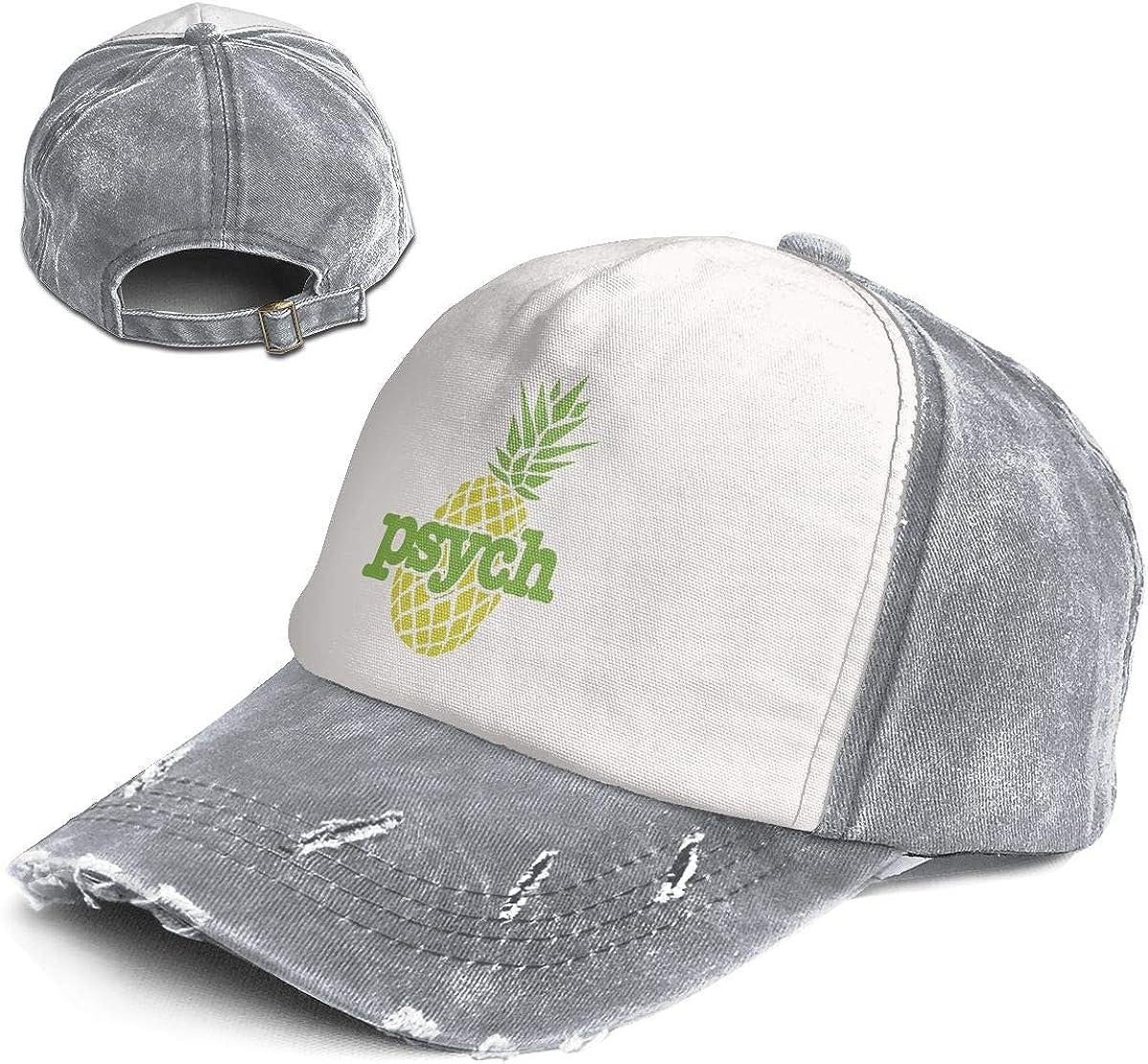 Fashion Vintage Hat Psych Pineapple Adjustable Dad Hat Baseball Cowboy Cap