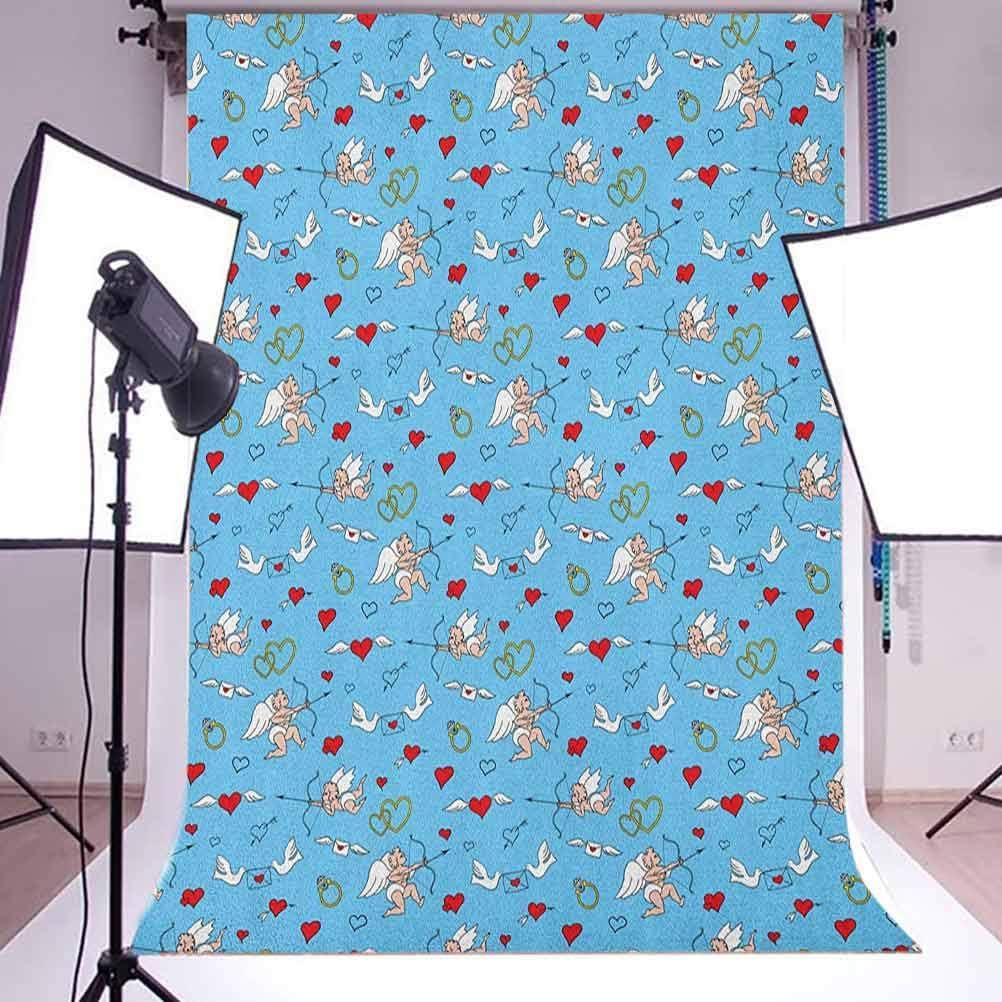 7x10 FT Abstract Vinyl Photography Background Backdrops,Marine Inspired Wavy Ocean Image Expressionist Illustration Nautical Art Twisty Background Newborn Baby Portrait Photo Studio Photobooth Props