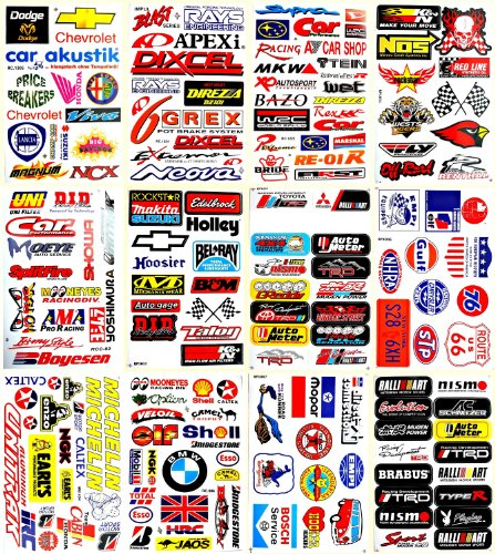 Motorsport Cars Nhra Drag Racing Lot 12 Vinyl Decals Stickers ()