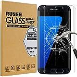 Galaxy S7 Edge Pellicola Protettiva, Rusee Pellicola Protettiva in Vetro Temperato Protezione Dello Schermo Protettore Glass Screen Protector Film per Samsung Galaxy S7 Edge - Trasparenza ad alta definizione, Anti-riflesso, Anti-Bolla, Durezza 9H, Bordi Arrotondati da 2.5D