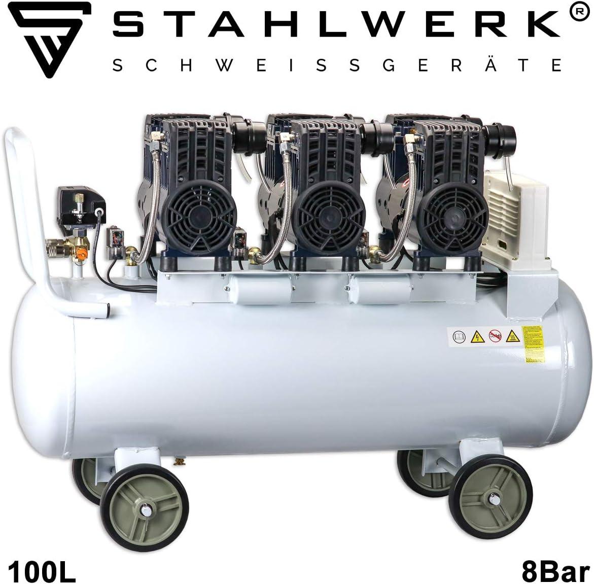 STAHLWERK ST 1008 pro - Compresor de aire a presión (100 L, 8 bar ...