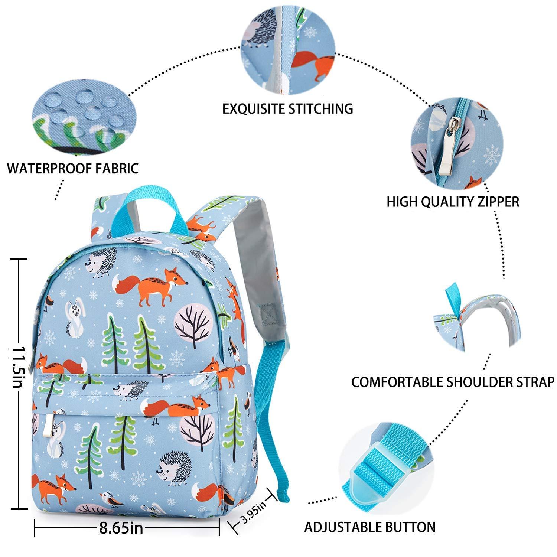 Amazon.com: Mochila ligera para niños con diseño de animales ...