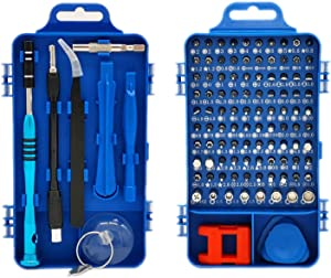 Precision Screwdriver Set, Faireach 110 in 1 Professional Repair Tool Kit, Magnetic Screwdriver Kit with Portable Case for Repairing Computer, Cellphone, Eyeglasses, Watch, iPhone, iPad, Mac (Blue)