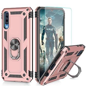 ff6f615724a LeYi Funda Samsung Galaxy A50 Armor Carcasa con 360 Anillo iman Soporte  Hard PC y Silicona