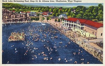 Amazon.com: Charleston, West Virginia - Rock Lake Swimming Pool View ...