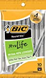 BIC Round Stic Xtra Life Ball Pen, Medium Point (1.0 mm), Black, 10-Count