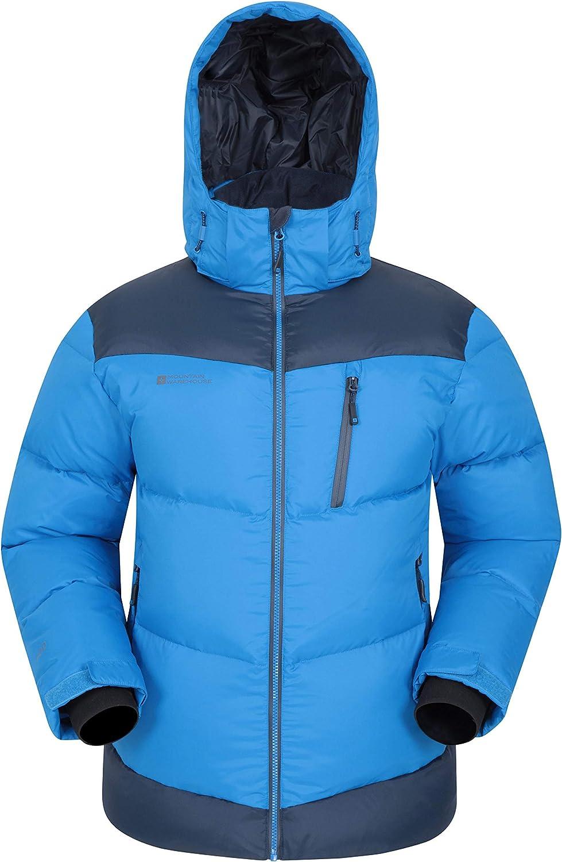 Mountain Warehouse Chaqueta de Plumas Polar Expedition para Hombre - Abrigo Acolchado, cálido y Ajustable, con Cremallera Impermeable - Prenda para Clima frío, acampadas