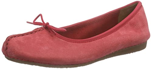Freckle Ice - Mocasines para Mujer, Red Nubuck, 39.5 Clarks