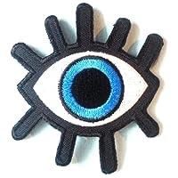 """ecusson patch badge applique thermocollant enfant bebe femme fille ecusson thermocollant """" l oeil 7 x 7,5 cm"""""""