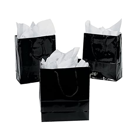 Amazon.com: Bolsas de regalo (Tamaño Mediano), color negro ...