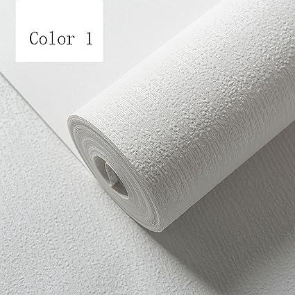 Modern Simple Non Woven Grey Wallpaper Nordic Style White