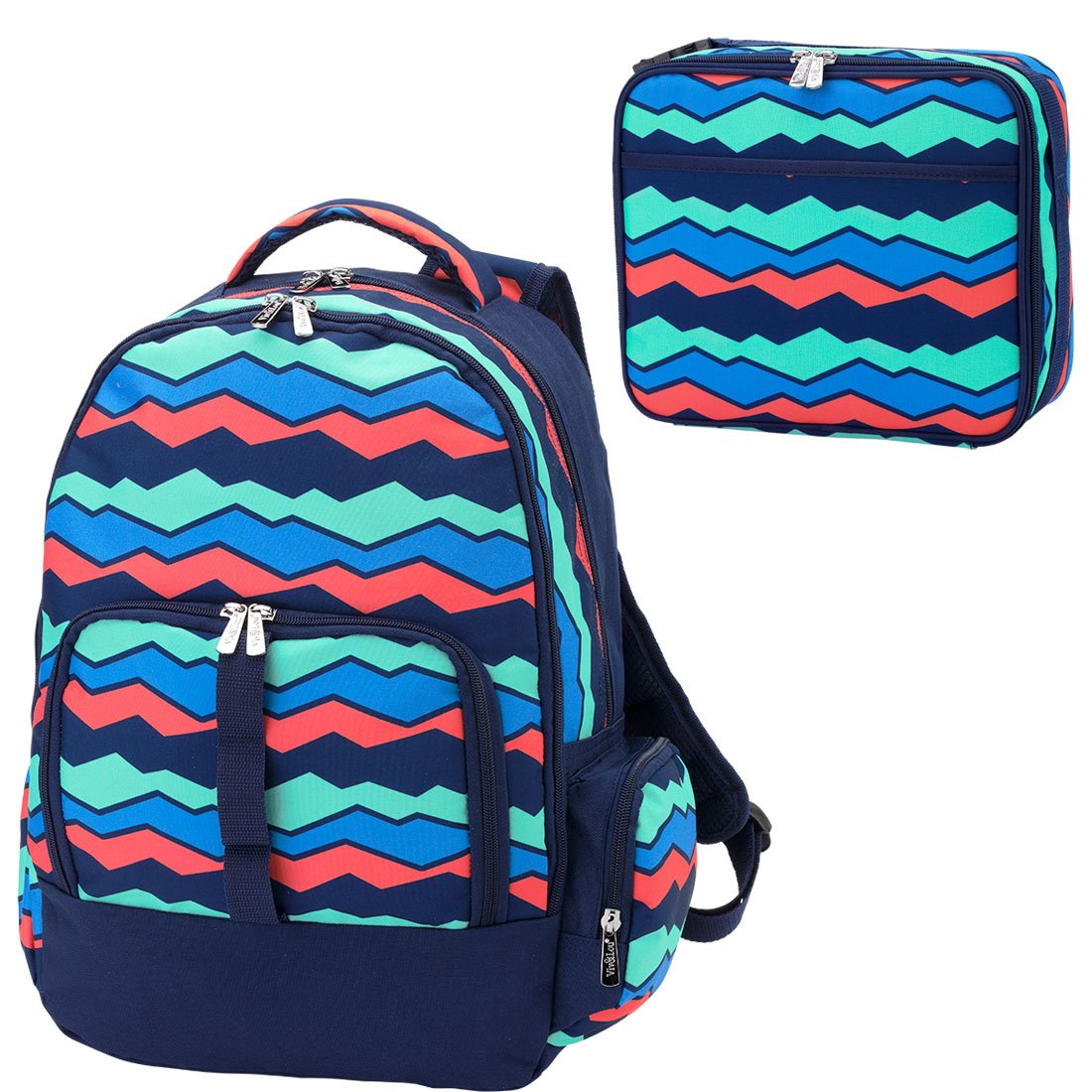 2c2b43045 Overlook 2 Piece Reinforced Reinforced Reinforced Design Water Resistant  Backpack and Lunch Bag Set 3d41c2