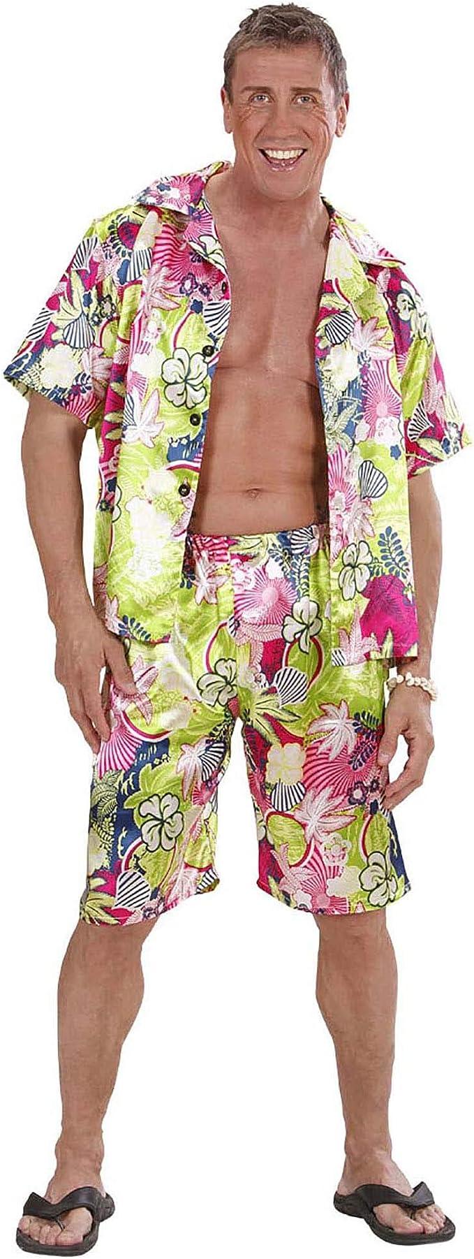 WIDMANN Disfraz de Hombre Hawaiano Adulto Carnaval: Amazon.es: Juguetes y juegos